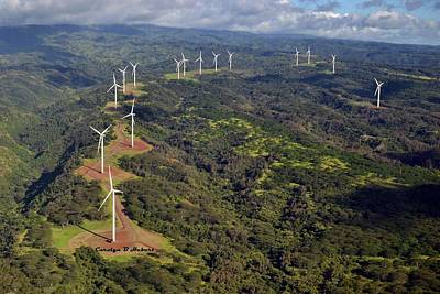 Wall Art - Photograph - Wind Turbines Oahu by Carolyn Hebert