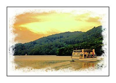 Digital Art - Windermere Steamer by Pete Hunt