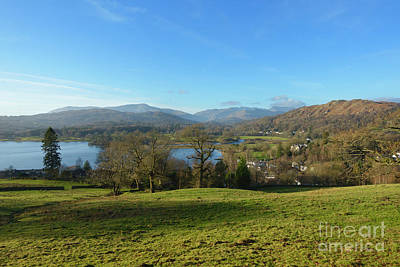 Ambleside Wall Art - Photograph - Windermere With Loughrigg Fell And The Langdales From Ambleside by Louise Heusinkveld