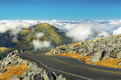 Photograph - Winding Road Descending From Mount Washington, Nh by Mihai Andritoiu