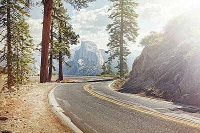 Photograph - Winding Road With Half Dome In Yosemite by James O'neil
