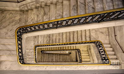 Photograph - Winding Stairs City Hall San Francisco Ca by Chuck Kuhn