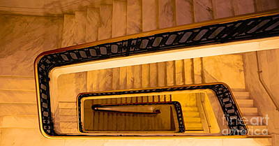 Digital Art - Winding Stairs Digital Art  by Chuck Kuhn
