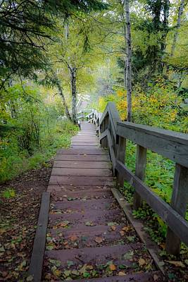 Photograph - Winding Stairs In Autumn by Susan Rydberg