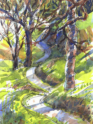 Painting - Winding Trail by Judith Kunzle