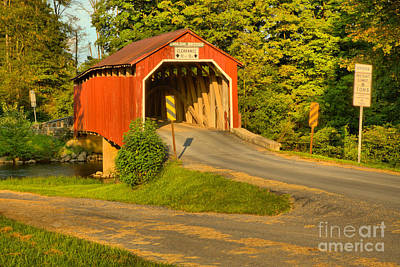 Photograph - Winding Up To The Enslow Covered Bridge by Adam Jewell