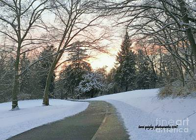 Photograph - Winding Wintry Sunset  by Tami Quigley