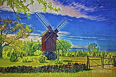 Painting - Windmill A18-31 by Ray Shrewsberry