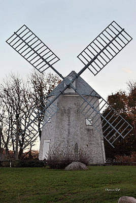 Photograph - Windmill Along Cape Cod by Suzanne Gaff