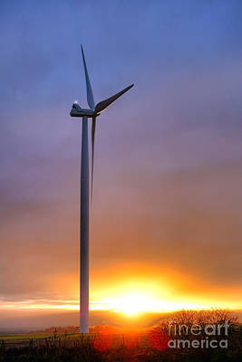 Photograph - Windmill At Sunset by Olivier Le Queinec