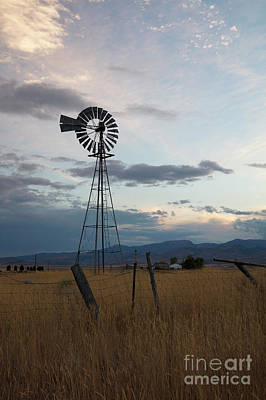 Photograph - Windmill In Evening by Idaho Scenic Images Linda Lantzy