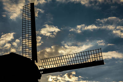 Photograph - Windmill Silhouette by Framing Places