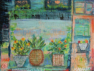 Mixed Media - Window Box by Paper Jewels By Julia Malakoff