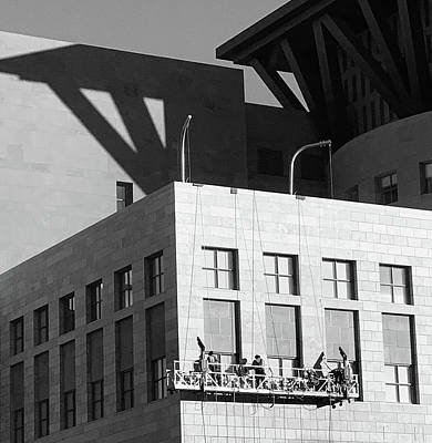 Photograph - Window Cleaners And Geometric Shapes by Marilyn Hunt