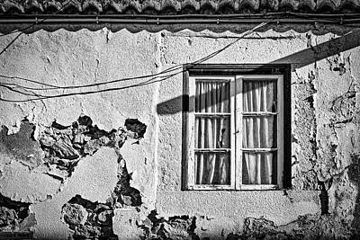 Photograph - Window In A Crumbling Wall - Portugal by Stuart Litoff