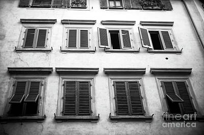 Photograph - Window Profile Florence by John Rizzuto