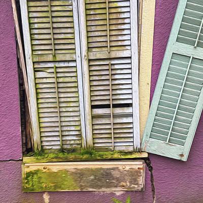 Photograph - Window shutters by Wendy Erickson