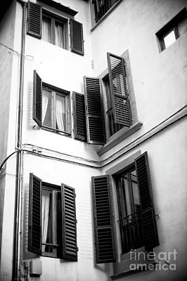 Photograph - Window Sizes In Florence by John Rizzuto