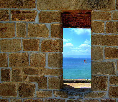 Photograph - Window To The Sea by Natasha Pnini