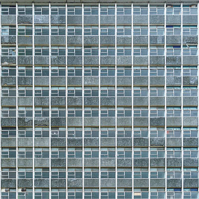 Windows Pattern Modern Architecture Art Print