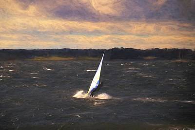 Photograph - Windsurfing In Winter by Karen Silvestri