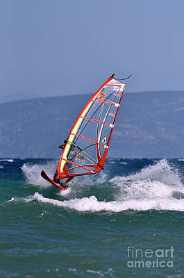 Photograph - Windsurfing On A Windy Day Vii by George Atsametakis