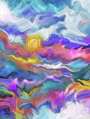 Digital Art - Windswept by Jean Batzell Fitzgerald