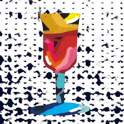 Mixed Media - Wine And Matzo- Art By Linda Woods by Linda Woods