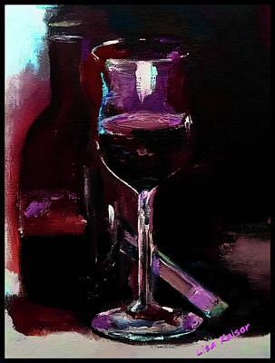 Digital Art - Wine And Vaping by Lisa Kaiser