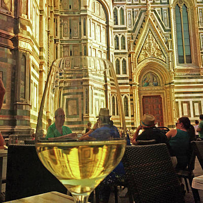 Photograph - Wine At The Duomo by Matthew Pace