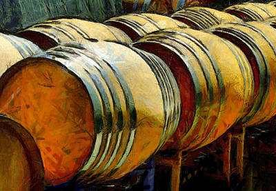 Photograph - Wine Barrel Rack by Floyd Snyder