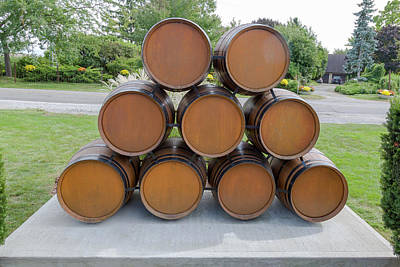 Photograph - Wine Barrels by Jack R Perry