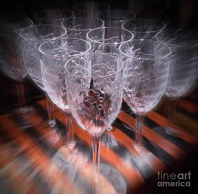 Photograph - Wine Glasses by Cheryl Del Toro