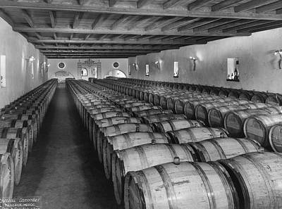 Photograph - Wine Storage by Archive Photos
