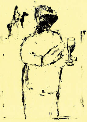 Painting - Wine Taster by Artist Dot