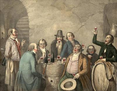 Drinking Digital Art - Wine Tasters by Hulton Archive