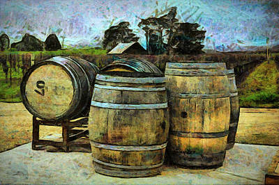 Photograph - Wine Trail Wine Barrels by Floyd Snyder