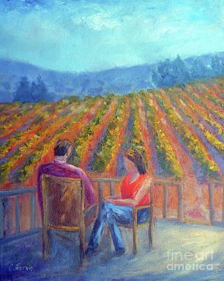 Painting - Winery Visit by Carolyn Jarvis