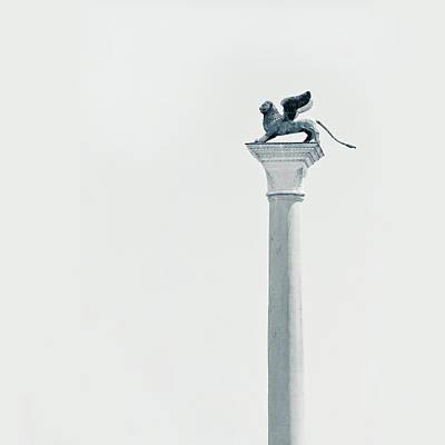 Photograph - Winged Lion Column by Nico De Pasquale Photography