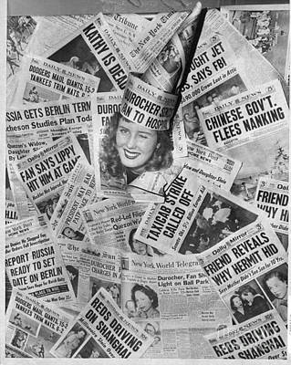 Photograph - Winner Of The Title Of Miss Page One by New York Daily News Archive