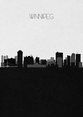 Digital Art - Winnipeg Cityscape Art by Inspirowl Design