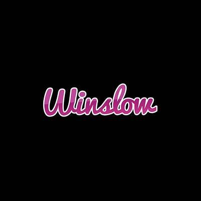 Digital Art - Winslow #winslow by Tinto Designs