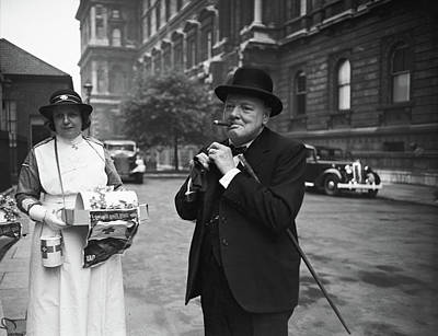 Photograph - Winston Churchill by Central Press