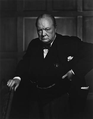 Celebrities Royalty-Free and Rights-Managed Images - Winston Churchill Portrait - The Roaring Lion - Yousuf Karsh by War Is Hell Store