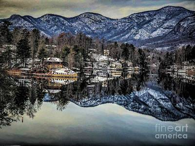 Photograph - Winter At Lake Lure  by Buddy Morrison