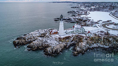 Photograph - Winter At Portland Head Light by Michael Hughes