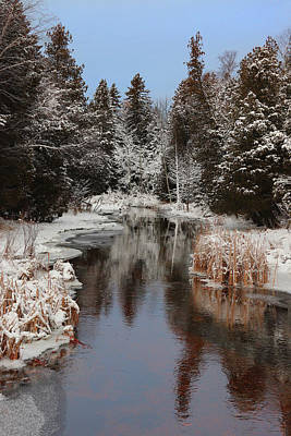Photograph - Winter At Reiboldt Creek by David T Wilkinson