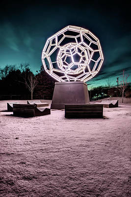 Photograph - Winter At The Buckey Ball - Crystal Bridges Museum by Gregory Ballos