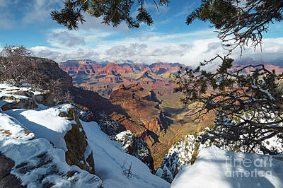 Photograph - Winter At The South Rim by Steve Ondrus