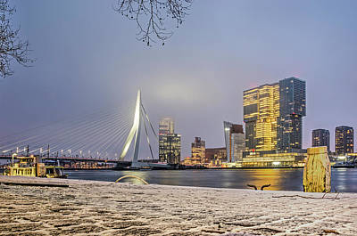 Photograph - Winter At Williams Quay by Frans Blok
